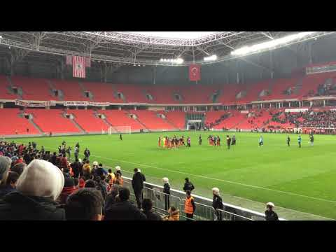 Samsunspor-Elazığspor Maç Sonu Kutlamaları