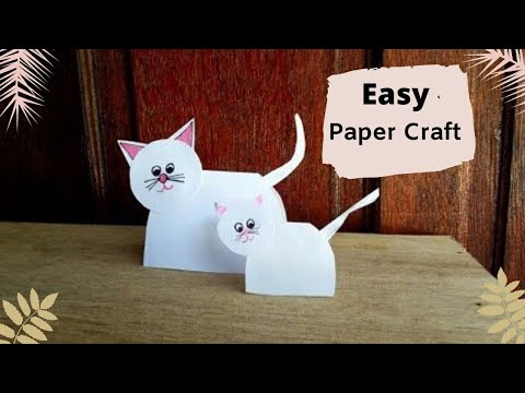 Easy Paper Craft For Kids / How to Make Paper Craft Cat Easy Way By Aloha Crafts