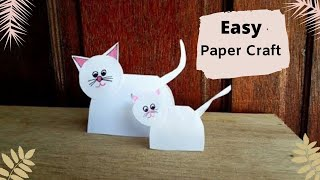 DIY Paper Doll Making Idea /How to Make Paper Cat for Kids/ Paper Craft Ideas for  Kids