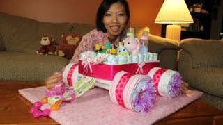 Diaper Cake Wagon (how To Make)
