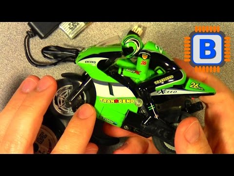 Shen Qi Wei Allegro 1/20 Mini RC Motorcycle Demo (courtesy Banggood)