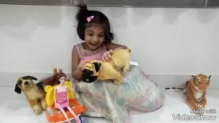 Making Barbie Dress with Play Doh by Niteesha Baby.!