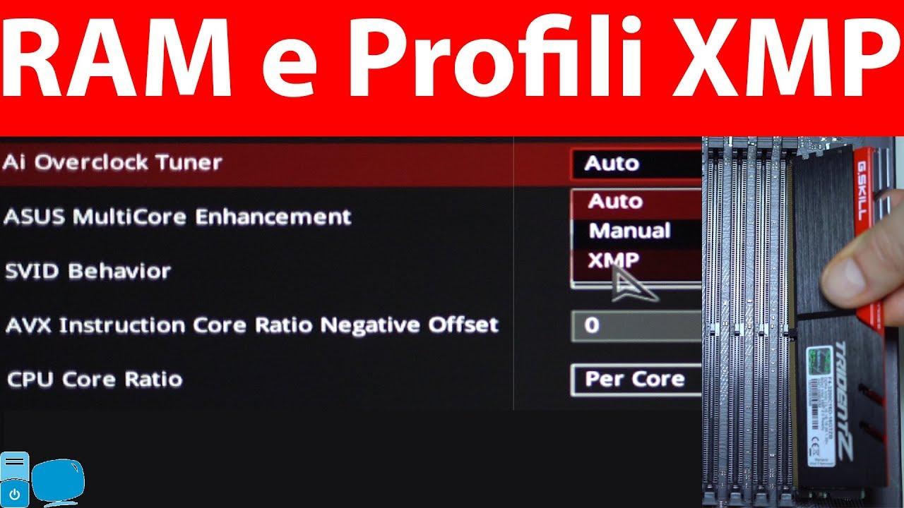 Come Impostare la Frequenza delle RAM con i Profili XMP