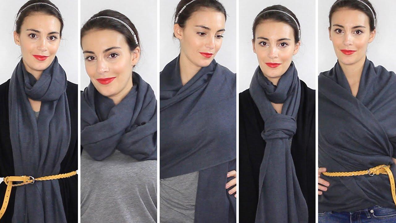 72981504fa6c Comment porter une écharpe ou un foulard   5 façons - YouTube