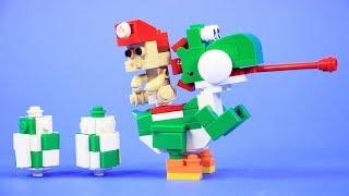 How To Build LEGO Yoshi, Baby Mario & Yoshi Eggs | Custom LEGO Nintendo Build