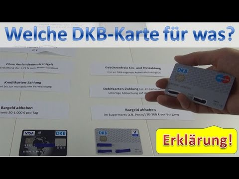 DKB Karten ⇒Giro- oder Visa Card nutzen?