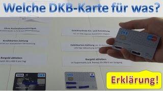 DKB Karten ⇒  Giro- oder Visa Card nutzen?