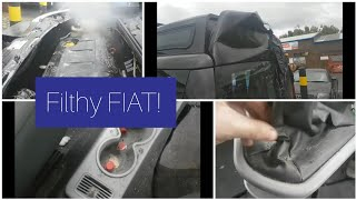 Cleaning a really dirty car! Fiat attempted break in