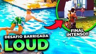 QUEM PERDER O X1 PULA DE BARRIGA NA PISCINA DA LOUD!! FREE FIRE