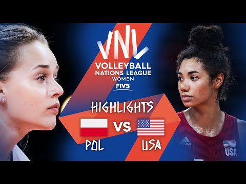Download Poland vs. USA - FIVB Volleyball Nations League - Women - Match Highlights, 18/06/2021
