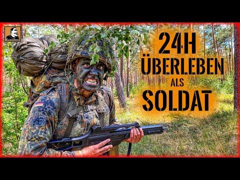 24H Überleben als SOLDAT | Survival mit BUNDESWEHR Ausrüstung | BIWAK im WALD | Survival Mattin