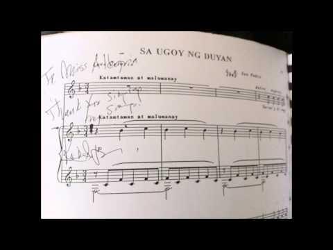 Sa Ugoy ng Duyan - Alegria O. Ferrer (soprano)