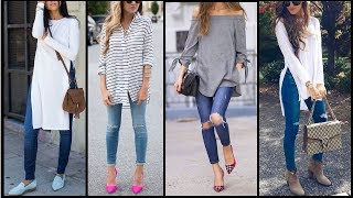 latest beautiful jeans and shirts trends | stylish & trendy Top shirts for Girls 2017