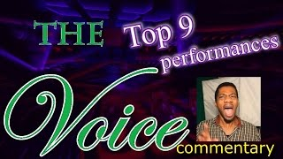 The Voice Top 9 performances (commentary)