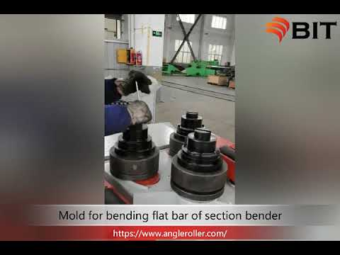Installation and use of mould for profile bending machine