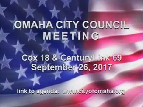 Omaha Nebraska City Council Meeting, September 26, 2017