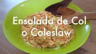 Ensalada de col Coleslaw – Receta para Thermomix o picadora