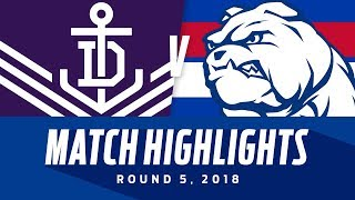Fremantle v Western Bulldogs Highlights - Round 5 2018 - AFL