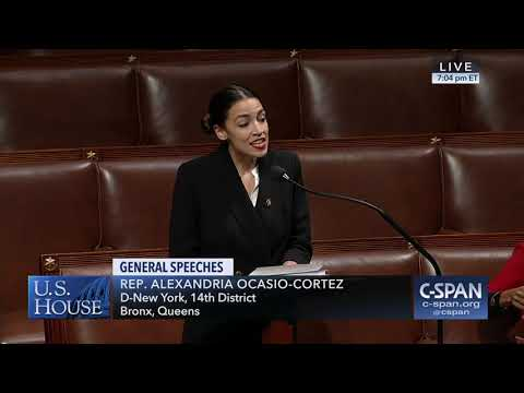 Rep. Alexandria Ocasio-Cortez first House floor speech (C-SPAN)