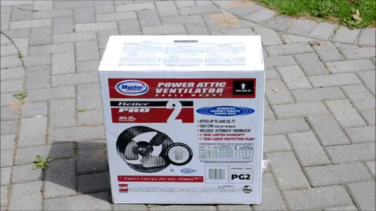 medium resolution of master flow power attic ventilator fan gable mount installation review youtube