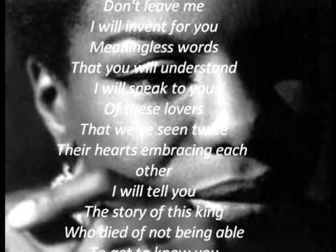 Nina Simone - Ne me quitte pas - English Translation