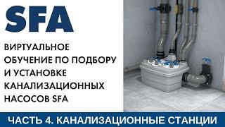 Обучение по правильному подбору и установке канализационных станций КНС SFA SANICUBIC