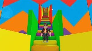 ROBLOX: THE GIANT RAINBOW ESCALATOR!!
