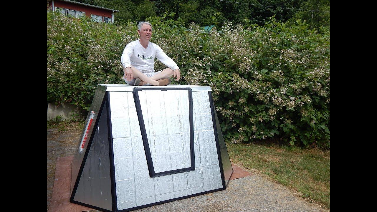 Foam Board Mini Houses : Burningman foam board shelter youtube
