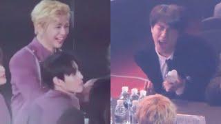 180125 Wanna One Kang Daniel Laughing at BTS Jin's Dancing