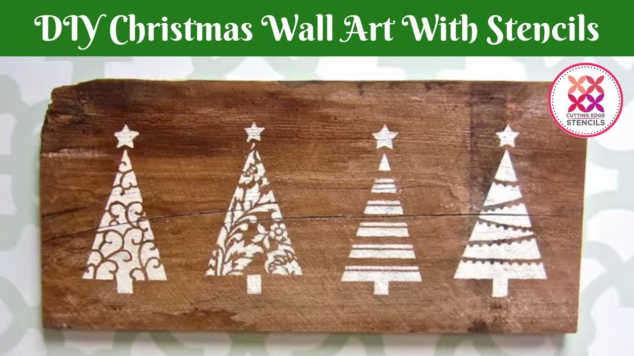 Holiday Decor Made Easy With Christmas Tree Stencils