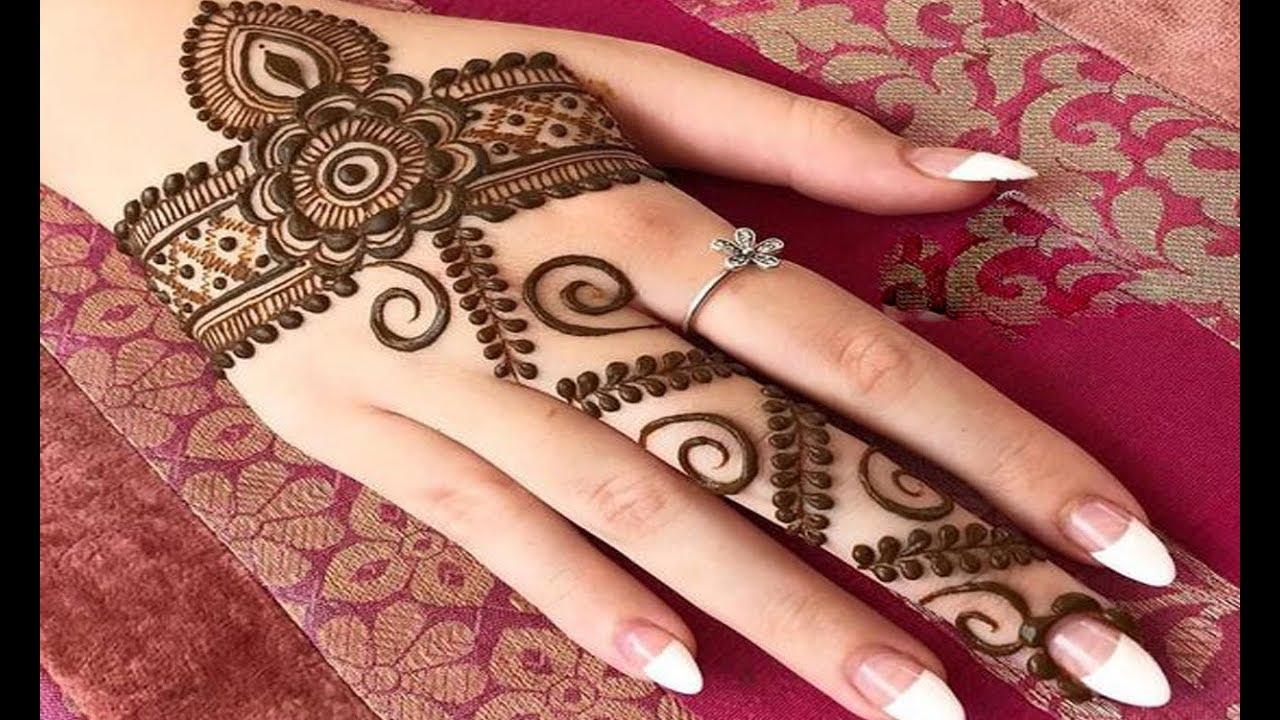Easy Back Hand Mehndi Designs For Beginners Simple Mehndi Designs