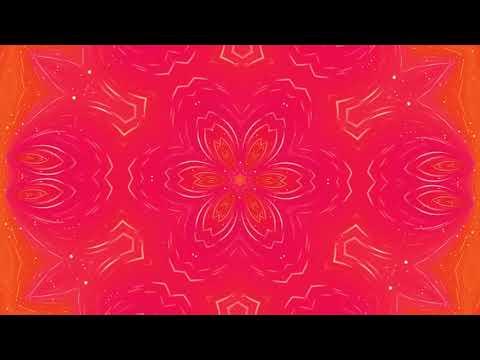 Pink Flower Flourish Pattern Motion Animated Background || Ornamental  Growing Motion Background