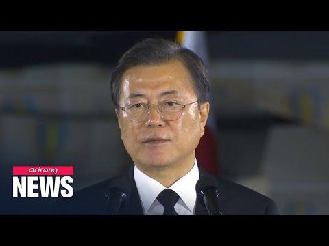 President Moon calls on N. Korea to boldly move to end Korean War
