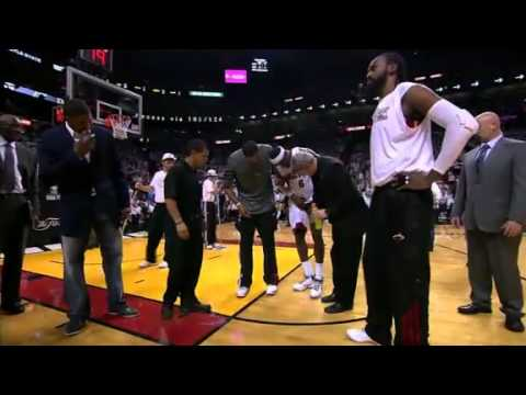 LeBron James Injured in Game 4 vs OKC (2012 NBA Finals)