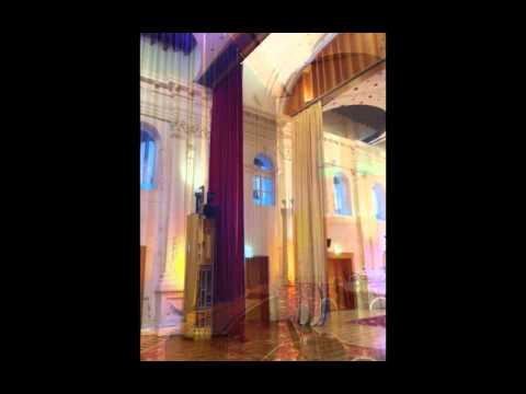 St Kilda Town Hall room divider and acoustic curtains