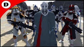 SURVIVING CLONE COMMANDERS HOLD GRIEVOUS HOSTAGE - Men of War: Star Wars Mod