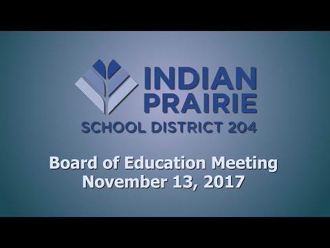 School Board Meeting: 11/13/2017