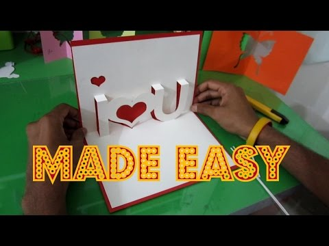 DIY Valentine's Day POP-UP Card, Anniversary Card, Handmade Greeting Card