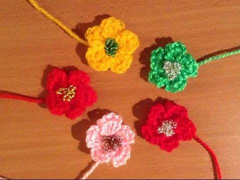 Fiori Bianchi Alluncinetto.Fiore Uncinetto Facile E Veloce Tutorial Flower Crochet Flor