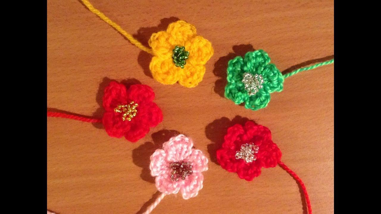 Fiore Uncinetto Facile E Veloce Tutorial Flower Crochet Flor