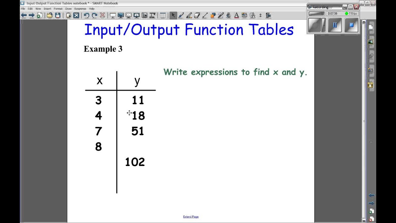 Input Output Tables Video