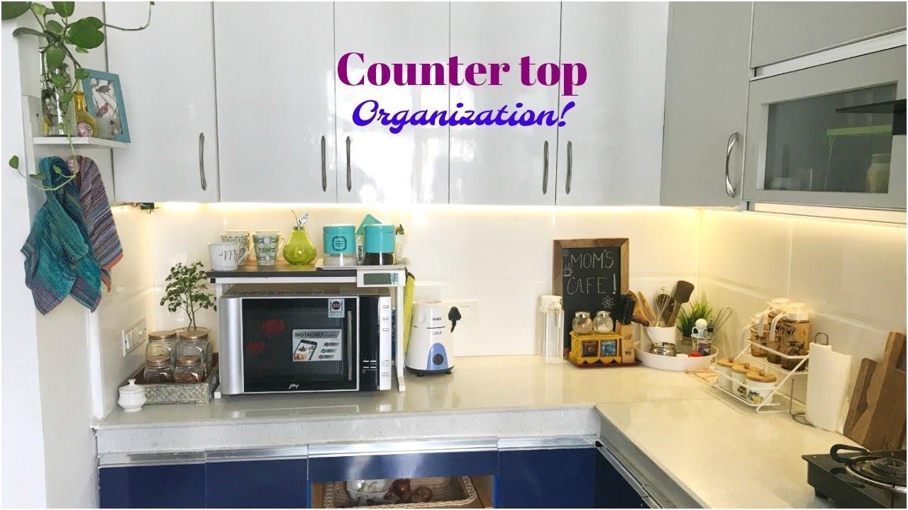Indian Kitchen Countertop Organization 2019 Kitchen Decor Ideas For Diwali Organizopedia Youtube