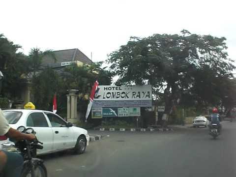 Taxi ride through Mataram on Lombok Indonesia
