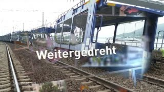 Weitergedreht: Entgleister Güterzug bei Rüdesheim