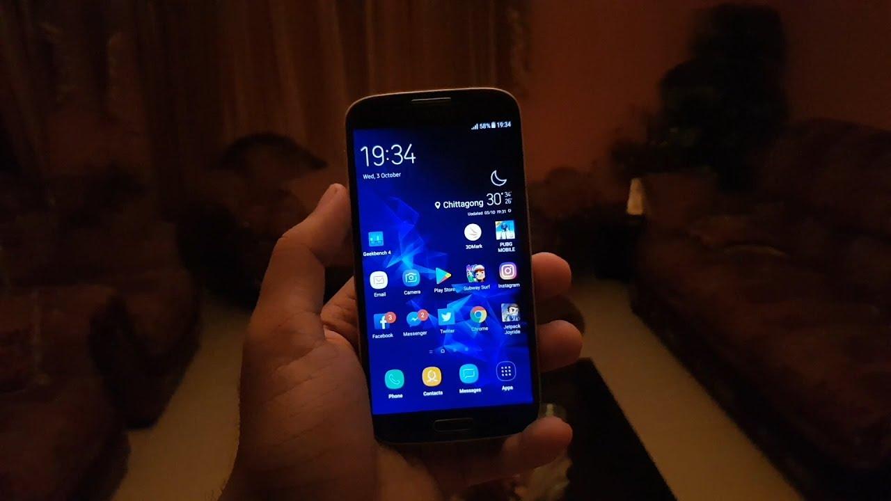 Galaxy S4 i9505 SuperTouchWiz v9 EOL   Note 9 & S9+ Custom Rom SKIN   PUBG  gameplay and Benchmark