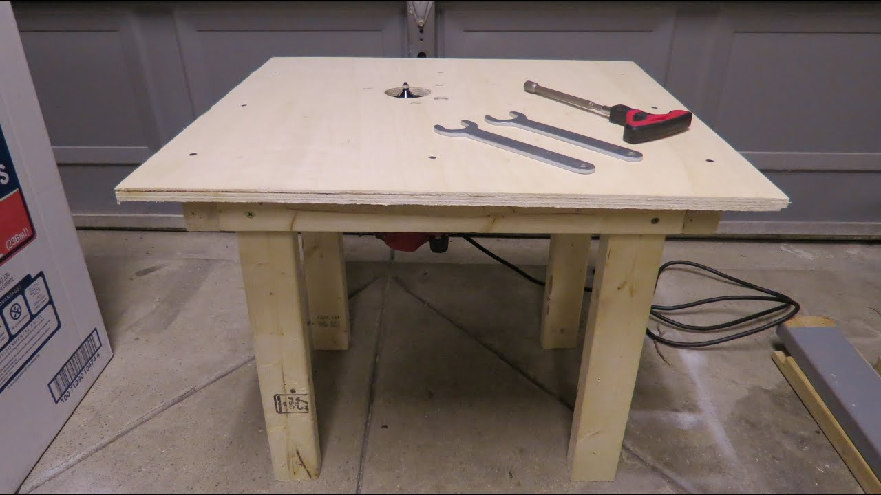 How to build router table for less then 10 youtube for How to make a router table