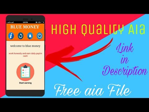 High Quality Earning App Aia File || Task Earning App Aia File || Appybuilder