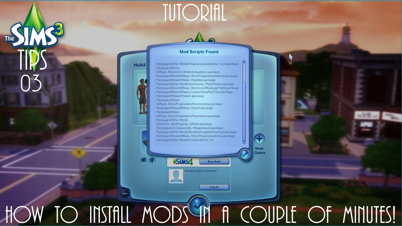 Sims 3 Tutorial: How to Install Mods & CC Sims 3 Tips Ep 3