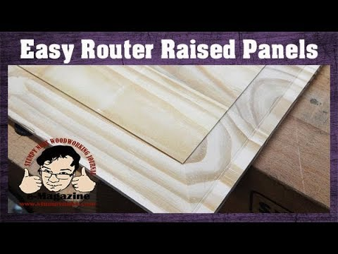 IMPOSSIBLE? Make A Classic Raised Panel With A Simple, Straight Router Bit