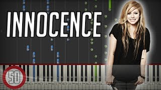 Avril Lavigne - Innocence Piano Tutorial [50% speed] (Synthesia)